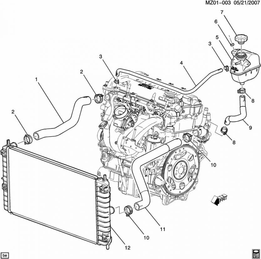 2011 Chevy Cruze Cooling System Diagram