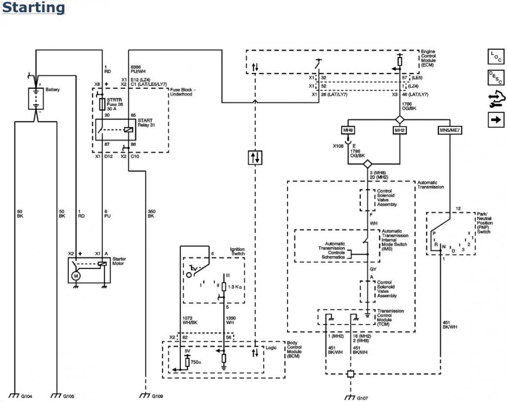2007 Chevy Malibu Starting Wiring Diagram