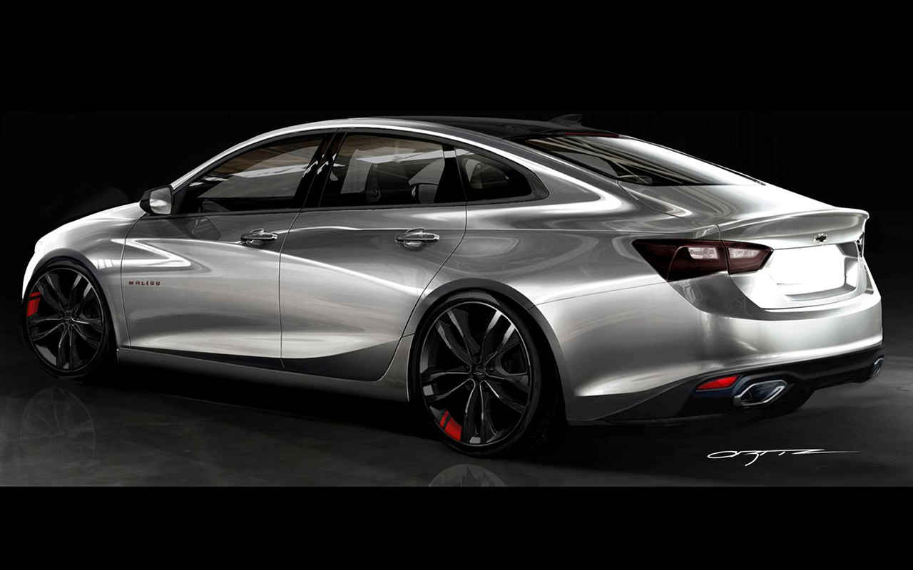2018 chevrolet redline. modren chevrolet click image for larger version name newchevymalibuconceptrear on 2018 chevrolet redline