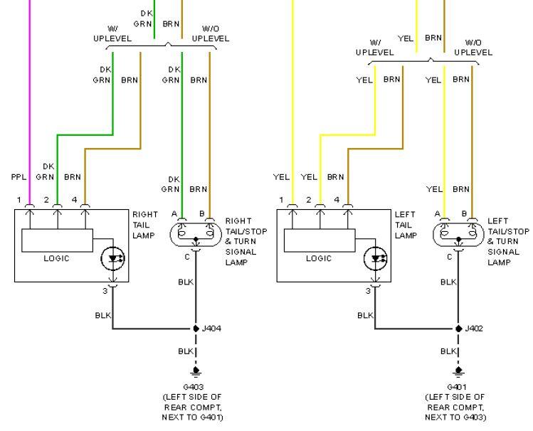 Schematic Tail Light Wiring Diagram Chevy
