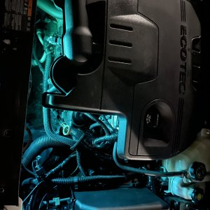 Engine Bay Glowing? Is that a Stock Feature?